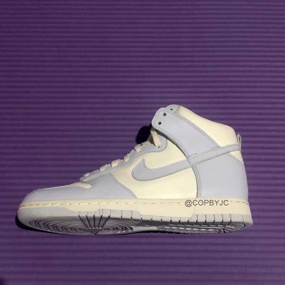 谍照预览帆白/足球灰/淡象牙白色Nike WMNS Dunk High