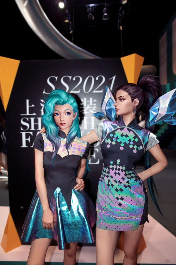 KDA女团参加上海时装秀 卡莎堪称萨勒芬妮的领路人