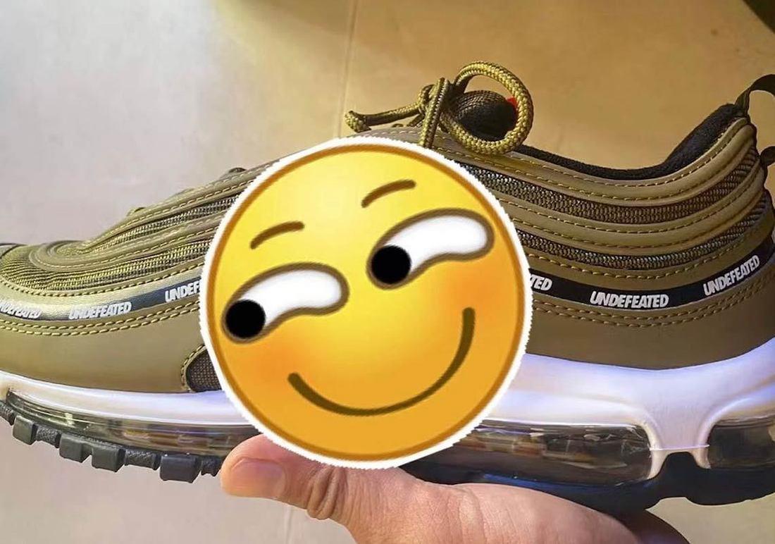 谍照预览军旅绿/黑/亮桔/白色UNDFTD x Nike Air Max 97