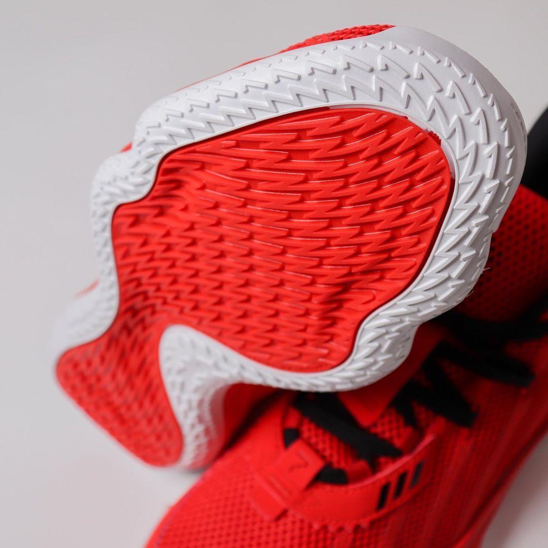 实拍展示全新红/1号黑/亮白色adidas Dame 7 GCA