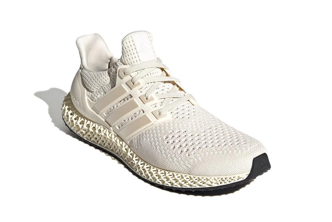 adidas 混种跑鞋 Ultra4D 全新配色「Footwear White/Core White」发布
