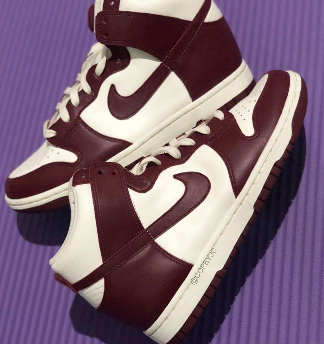 谍照预览帆白/队红/淡象牙白色Nike WMNS Dunk High