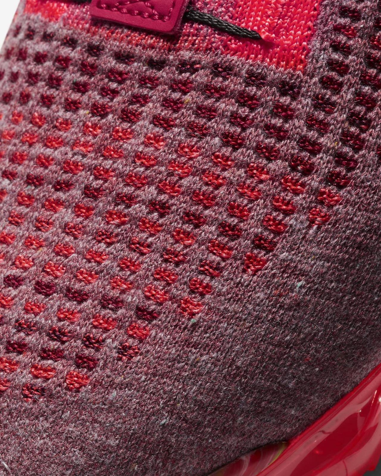 Nike Running推出队红/闪电深红/健身红色Air VaporMax 2020 FK