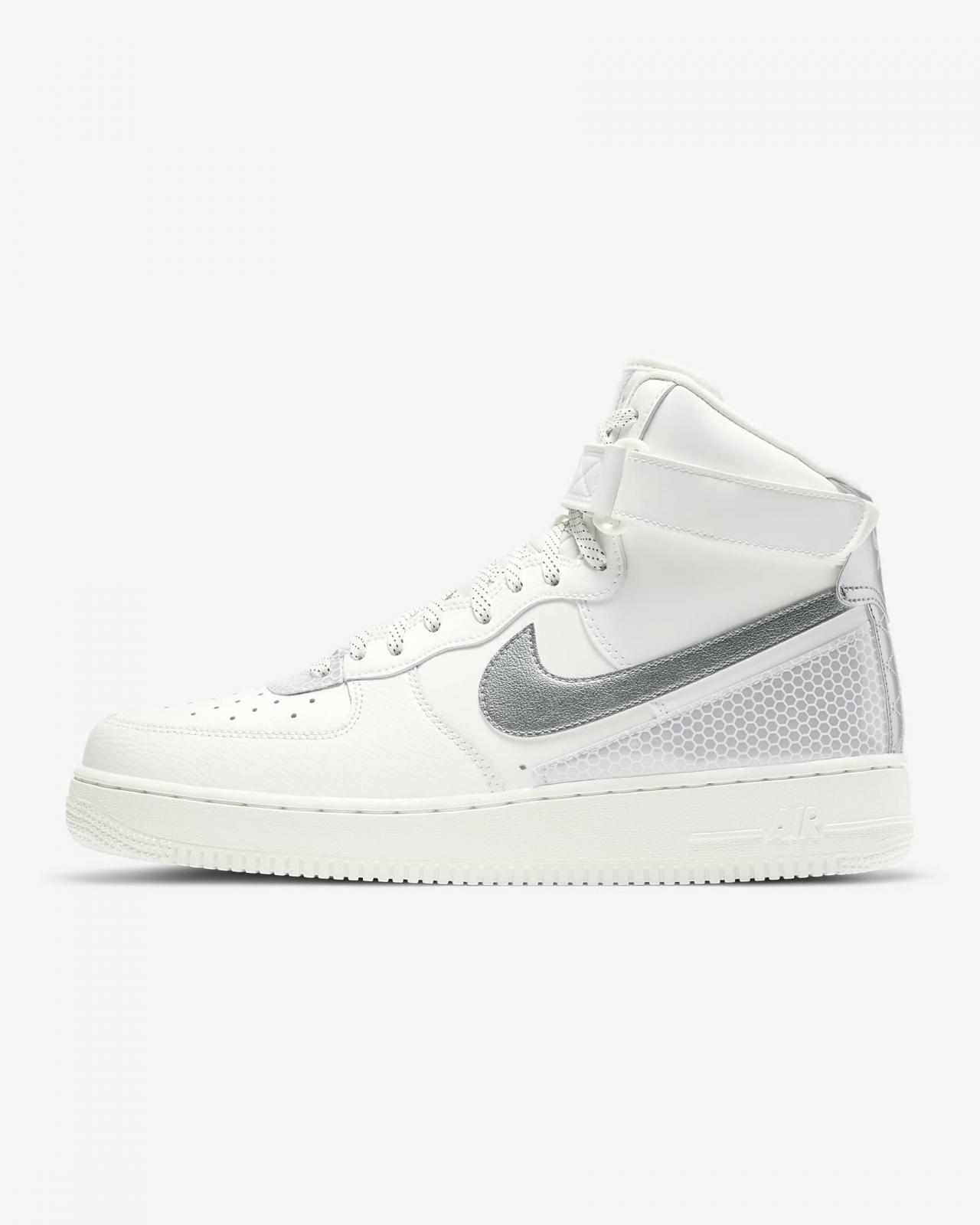 Nike Sportswear推出全新山峰白/黑/金属银色Air Force 1 High 3M