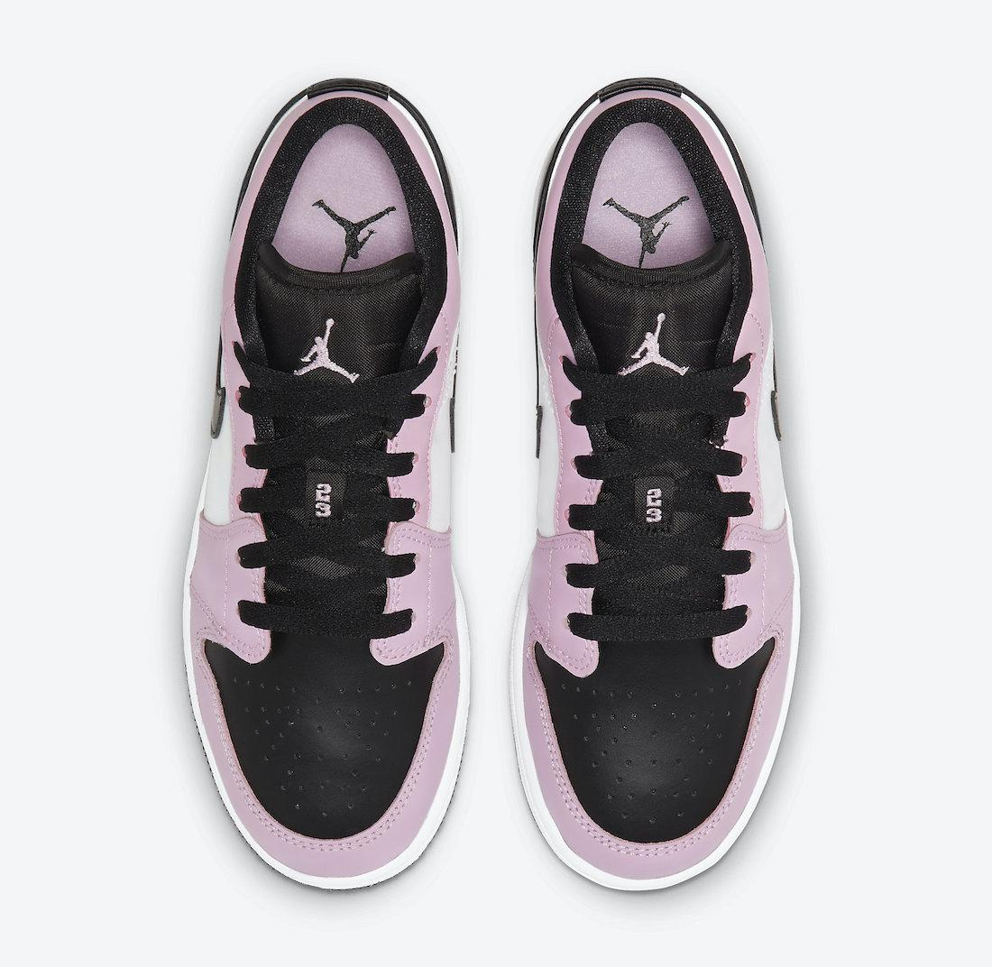 Jordan品牌推出全新浅北极粉/黑/白色Air Jordan I Low GS