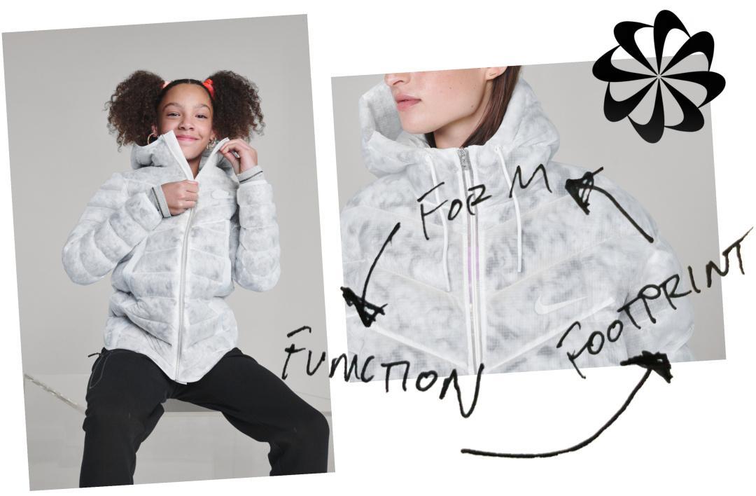 设计师讲述Nike NSW Marble Ecodown Jacket保暖夹克设计理念