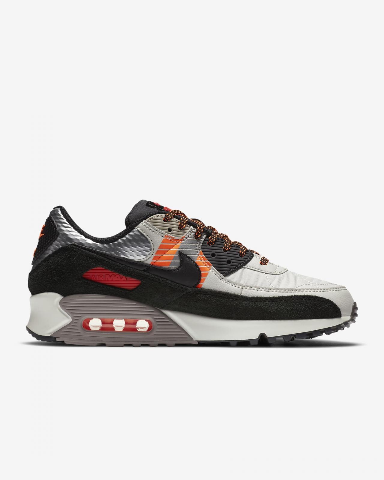 Nike Sportswear推出全新浅骨/荷兰橙/谜石灰/黑色Air Max 90 3M