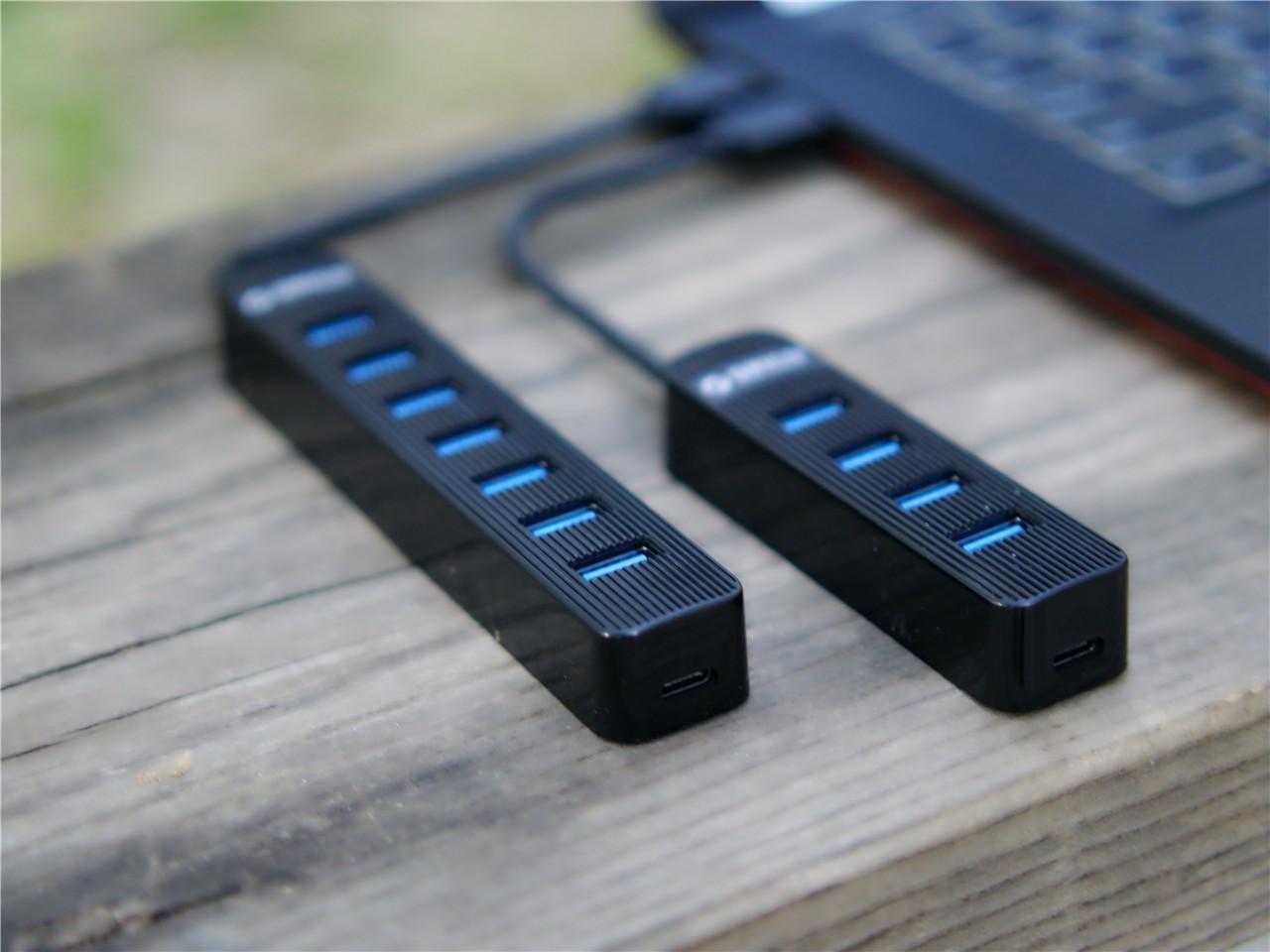ORICO USB集线器4口和7口满足日常拓展接口需求