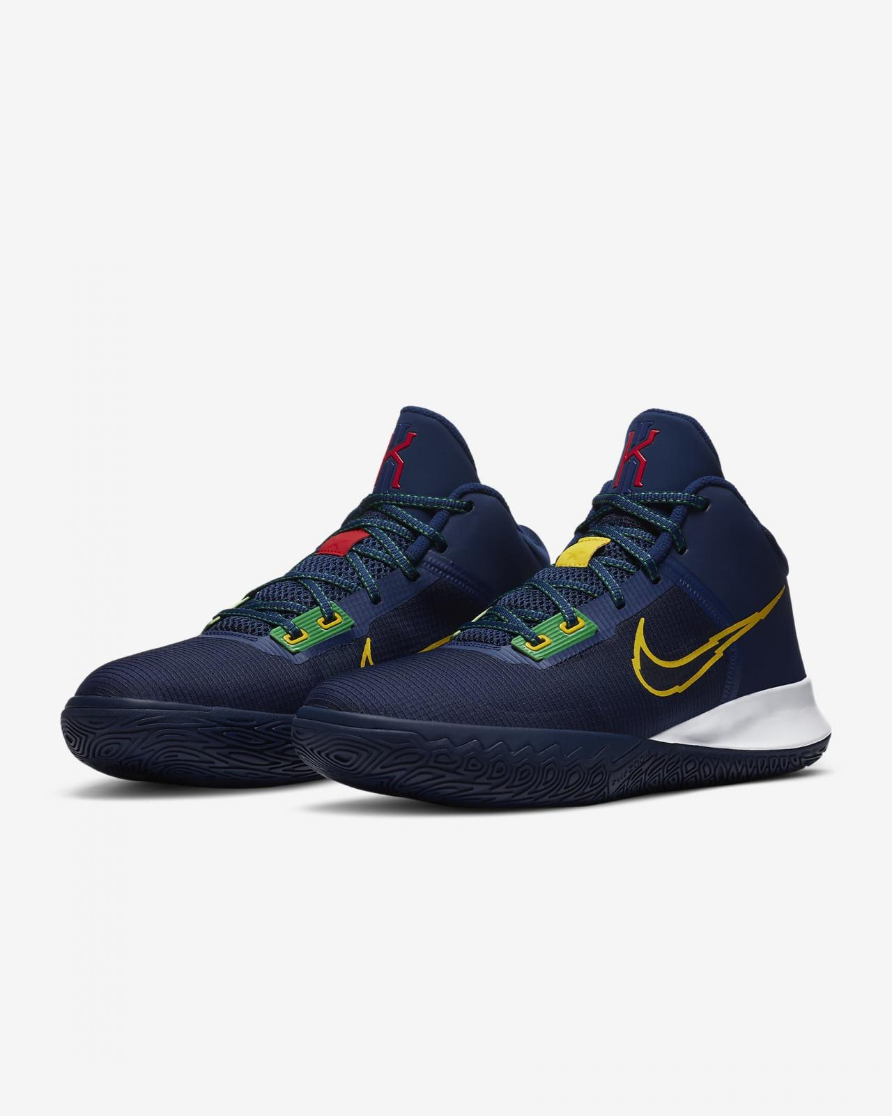 Nike Basketball推出全新空间蓝/深宝蓝/幸运绿/速度黄色Kyrie Flytrap IV EP