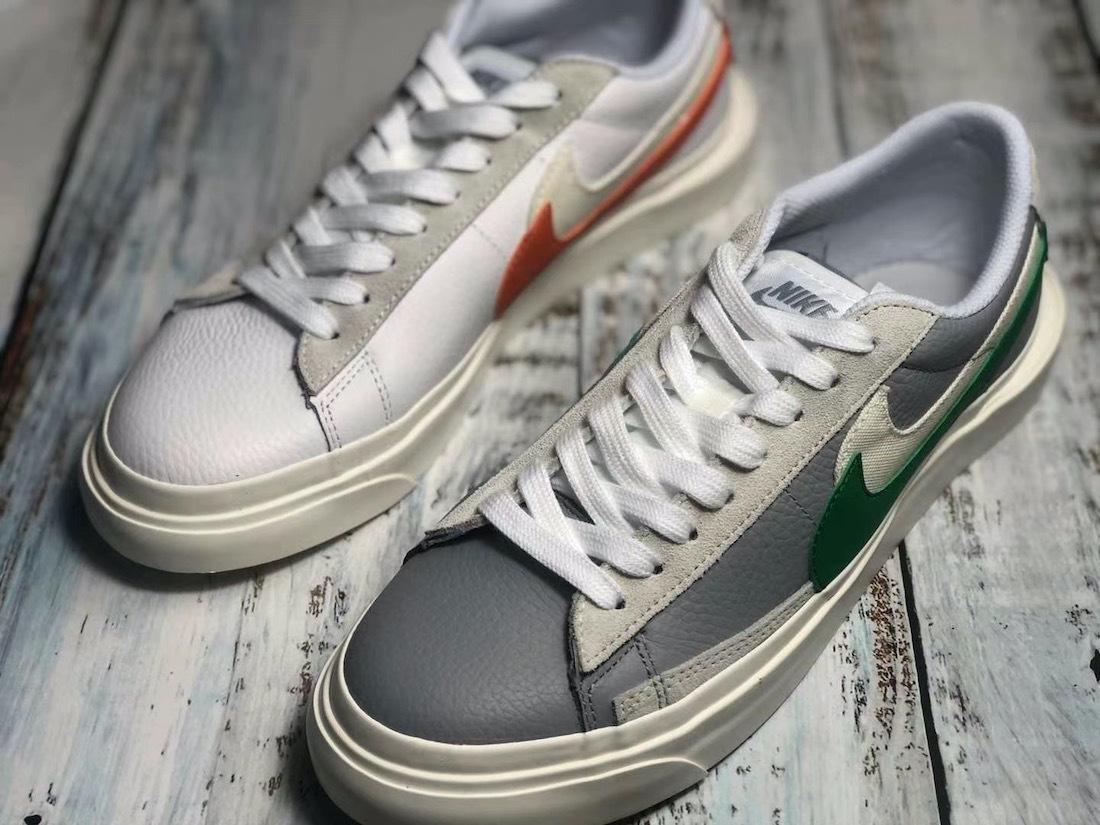 两款配色sacai x NikeLab Blazer Low曝光新谍照