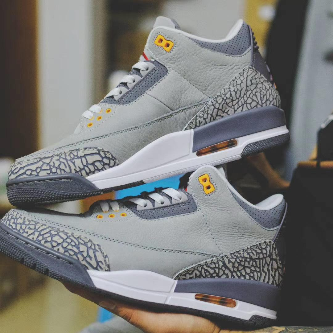 "谍照预览2021年复刻版Air Jordan III Retro ""Cool Grey"""