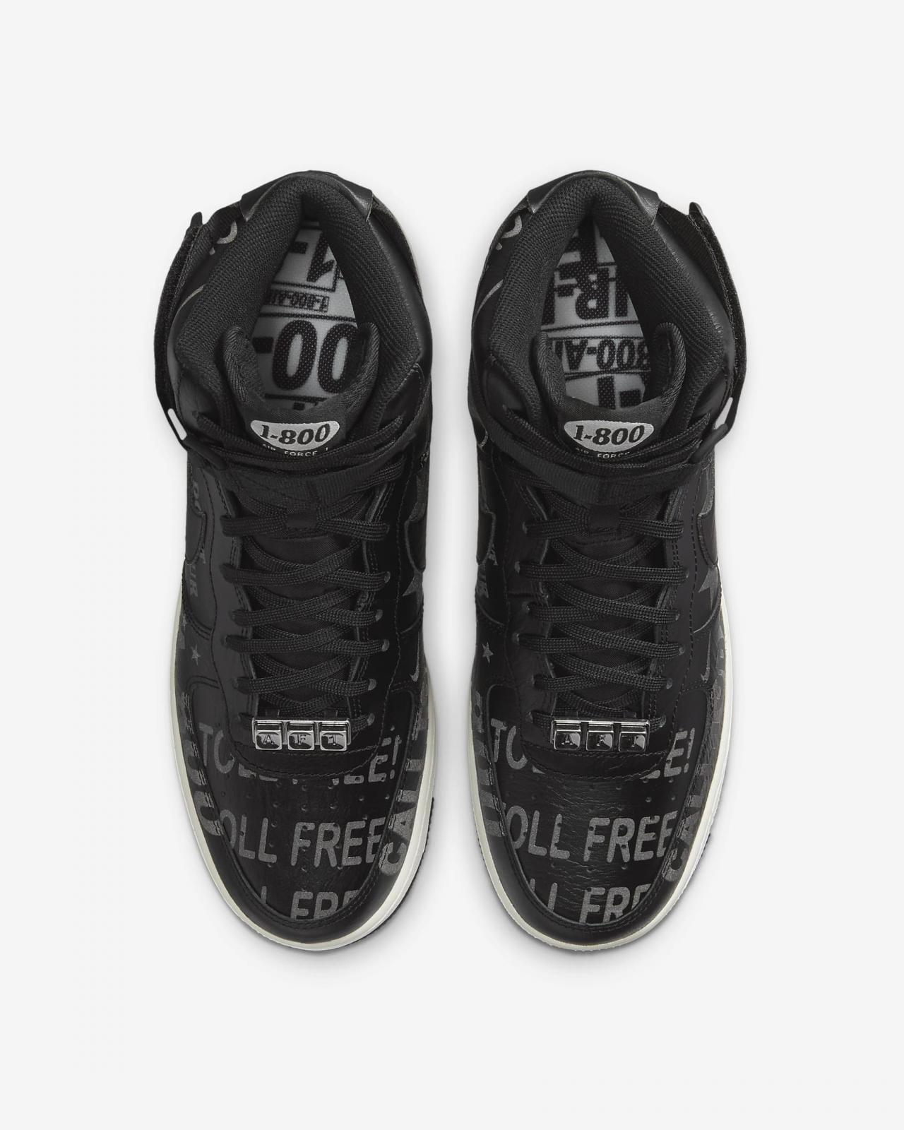 "Nike Sportswear推出全新黑色Air Force 1 High '07 PRM ""1-800"""