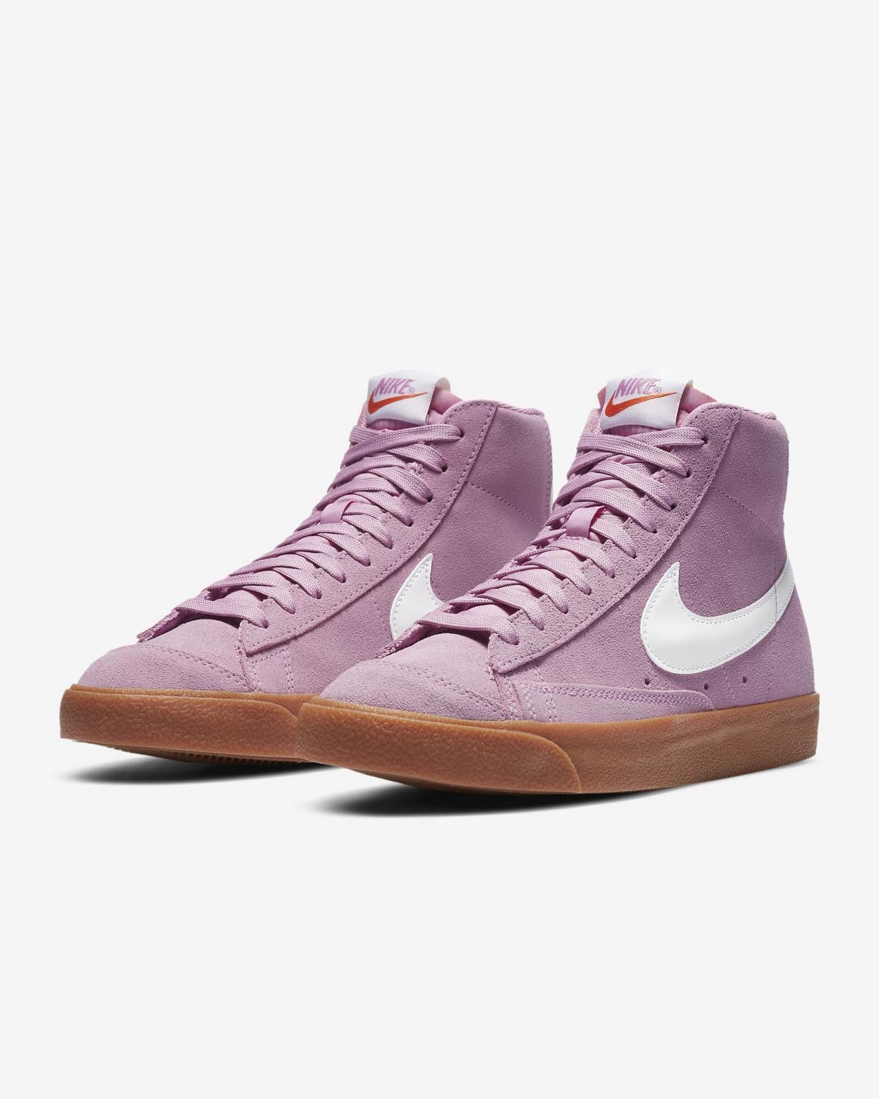 Nike Sportswear推出超粉/橡皮中褐/荷兰橙/白色WMNS Blazer Mid '77 Suede