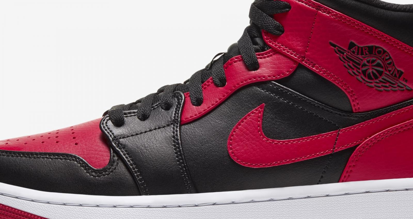 "Jordan品牌发布全新Air Jordan I Mid ""Red & Black"""