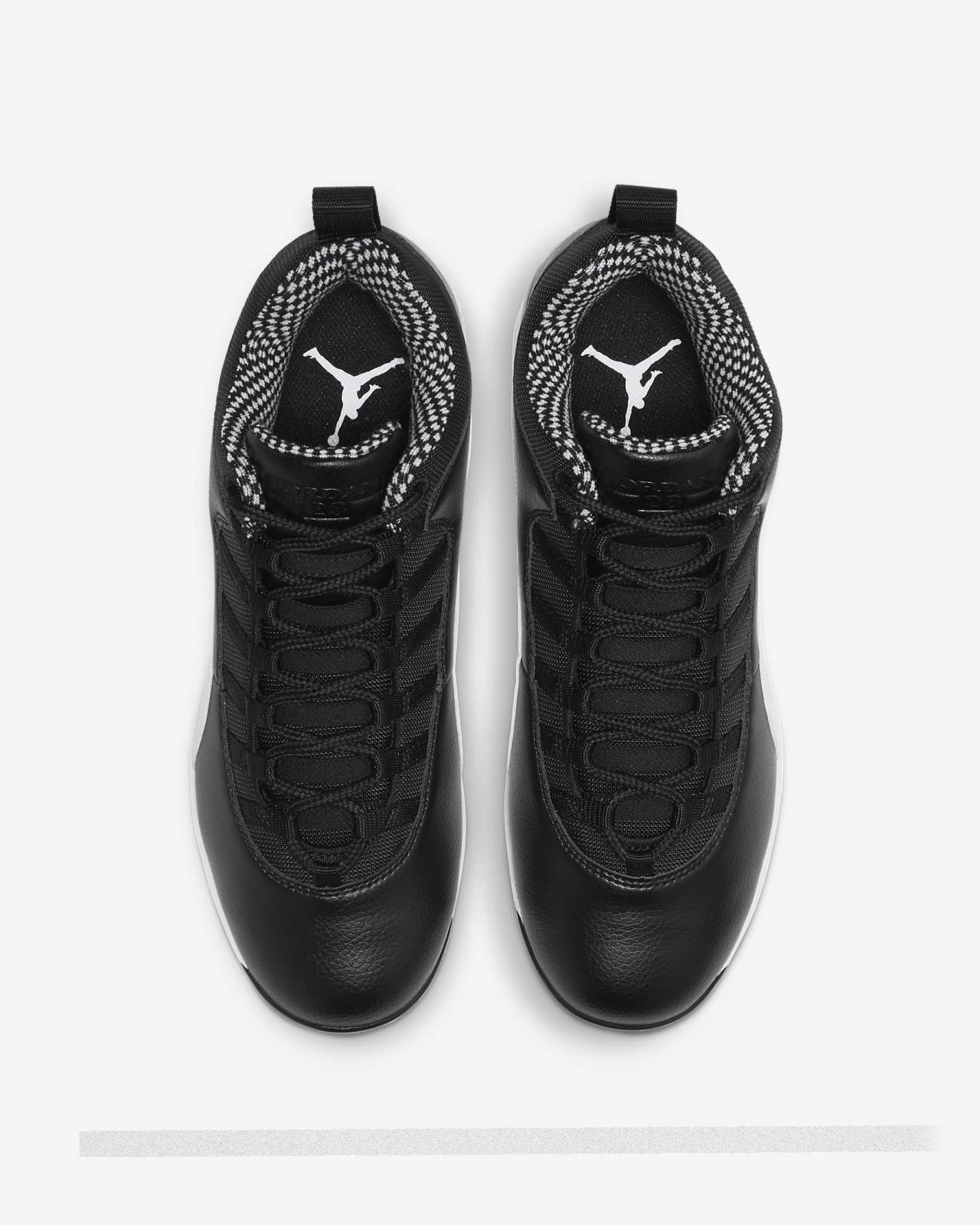 Jordan品牌推出全新黑/白色Jordan Retro 10 MCS Low