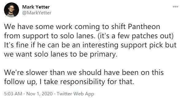 BeryL辅助潘森仅输过一场 设计师表示将要改动让潘森回到单人线