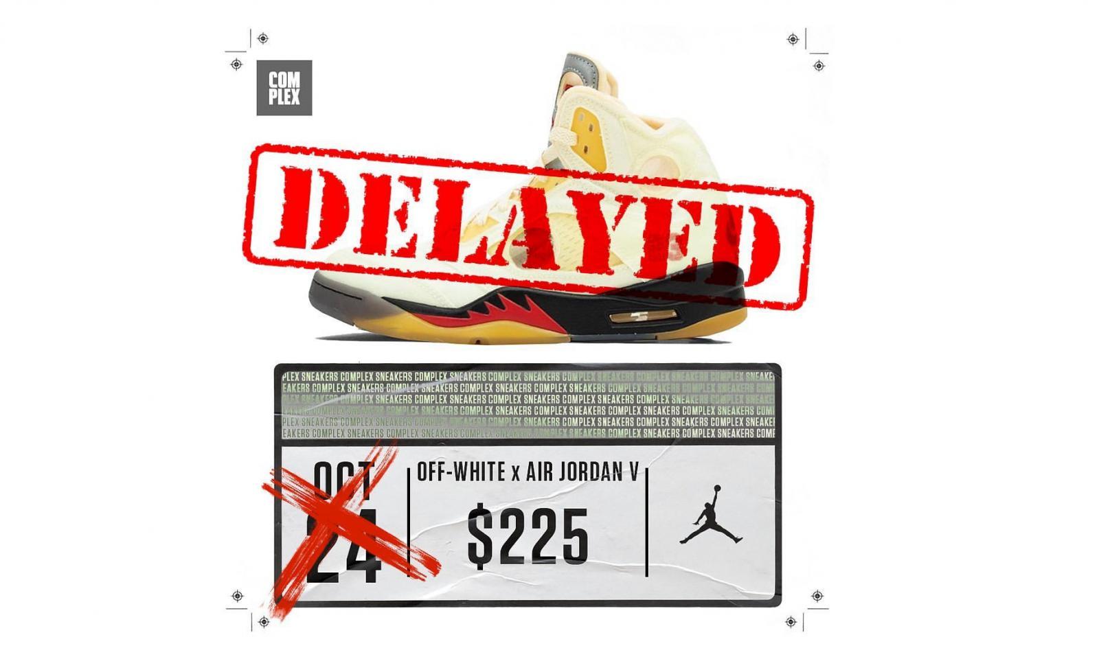 Off-White™ x Air Jordan V「Sail」发售延迟