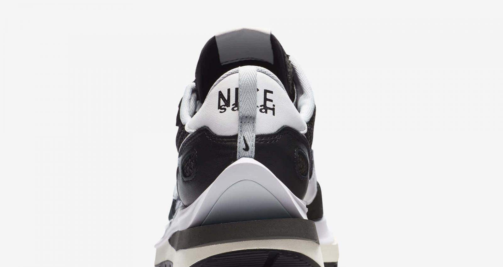 NikeLab携手sacai发布全新黑/山峰白色VaporWaffle