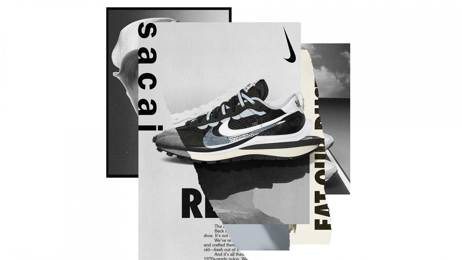 融合数代跑步创新设计的鼎力之作 —— Nike x sacai VaporWaffle