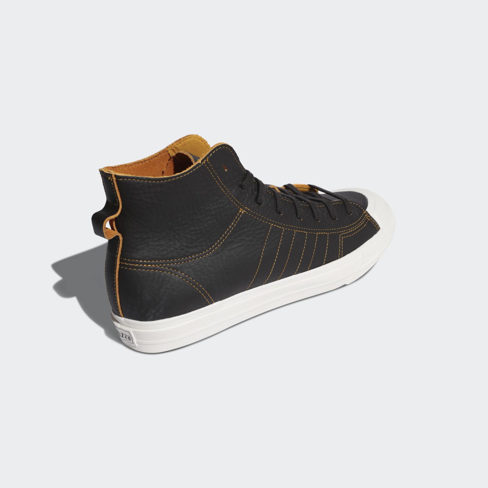 adidas Originals推出全新深棕/白/金色Nizza Hi RF