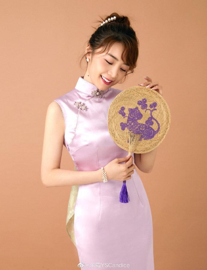 余霜最新旗袍美照犹抱琵琶半遮面 极致凸显东方美