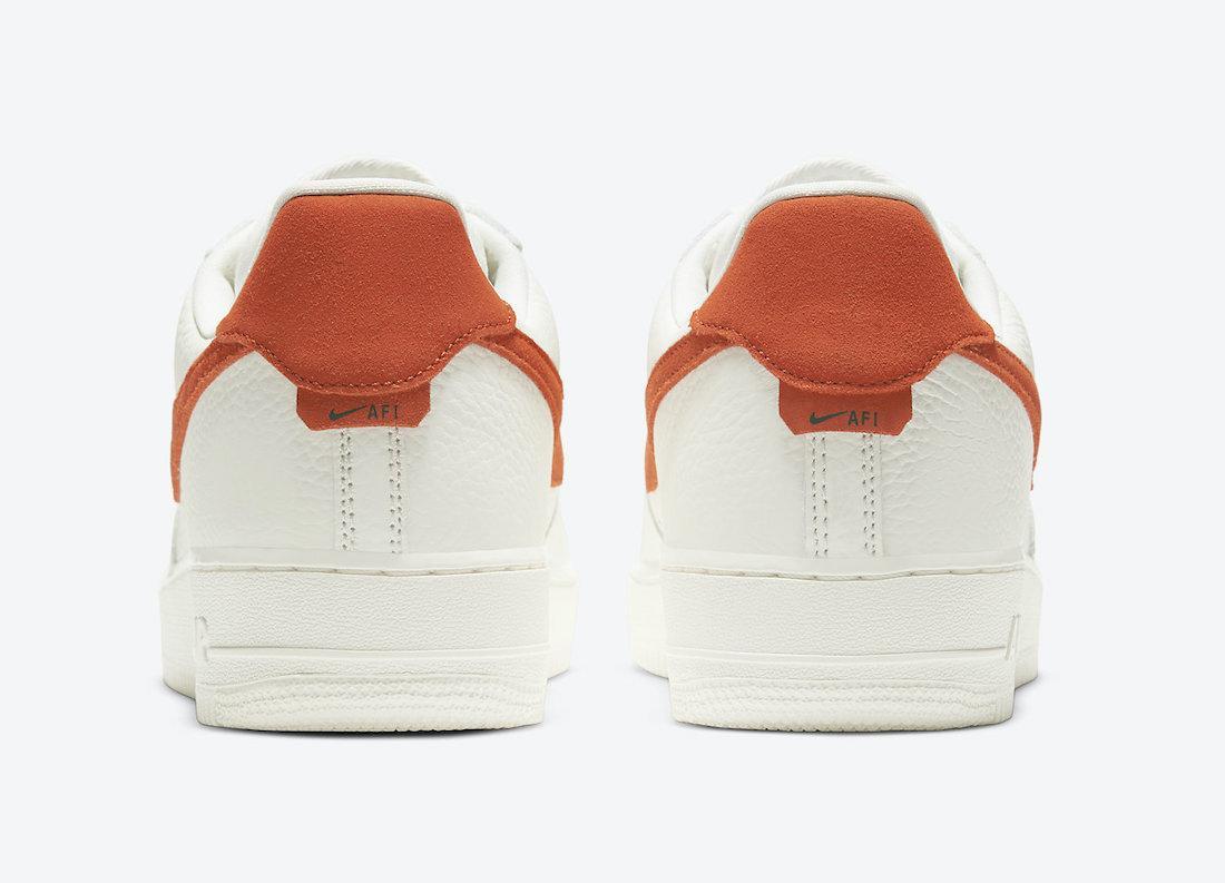 预览全新帆白/颂歌橙色Nike Air Force 1 '07 Craft官方产品图