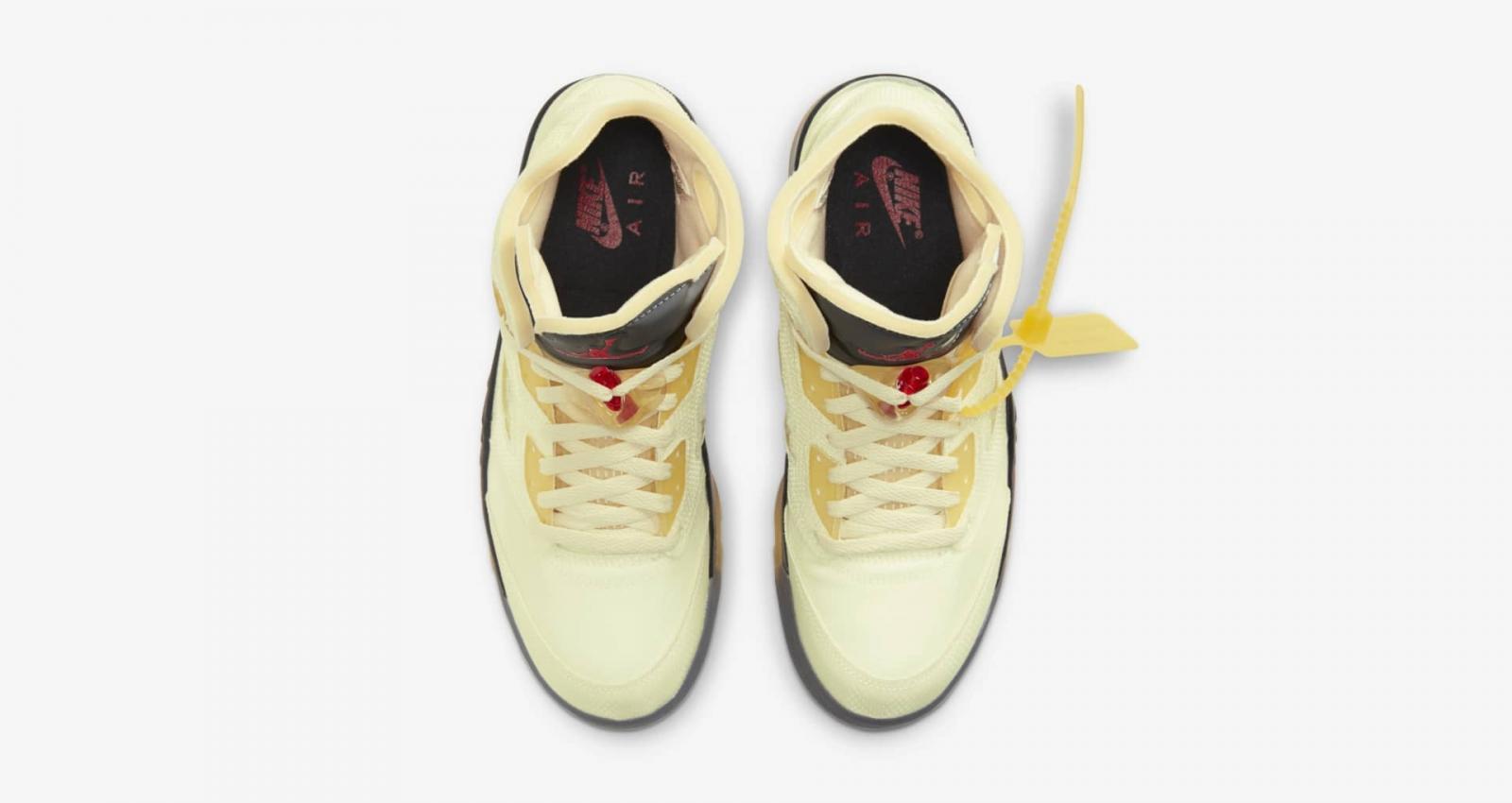 帆白色Off-White x Air Jordan 5 Retro SP即将登陆大中华地区