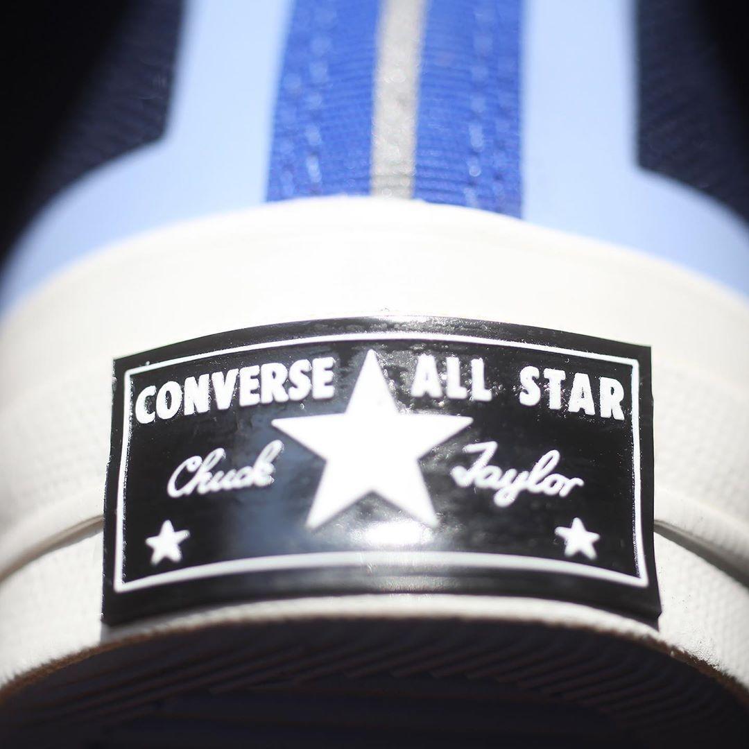 细节实拍展示深藏青/蓝色Converse Chuck 70