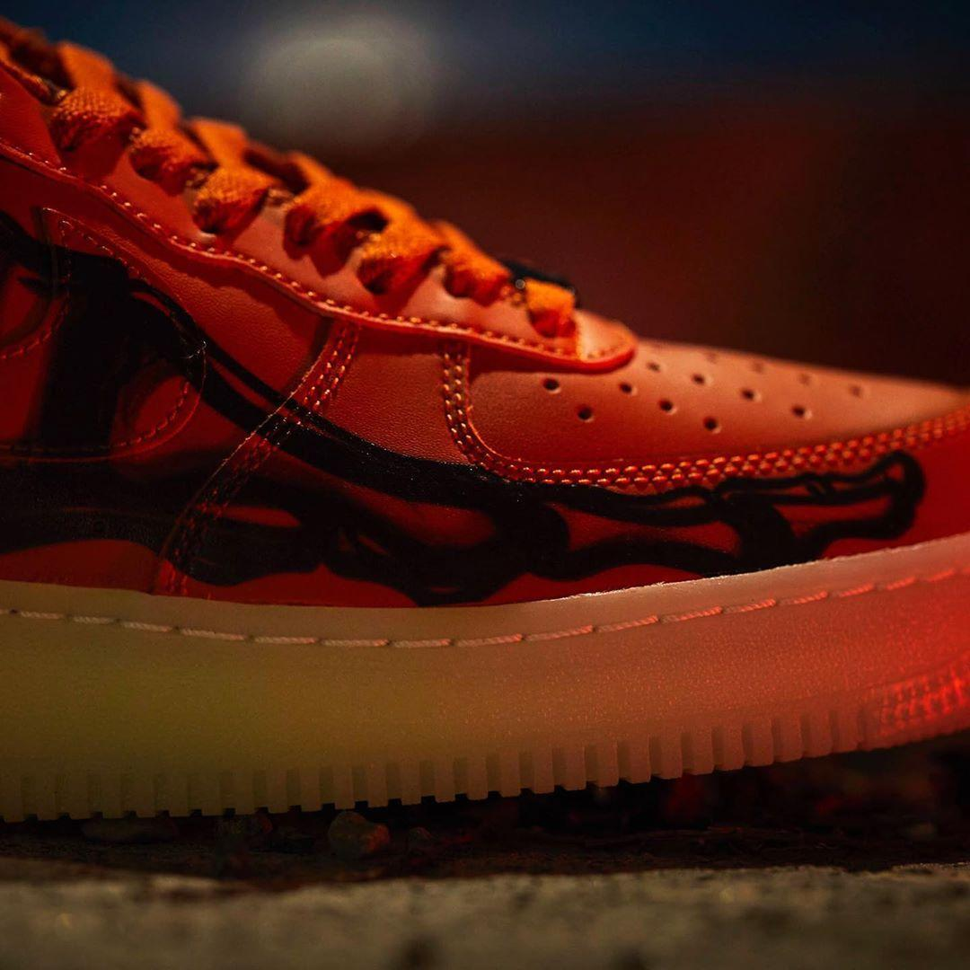 """实拍预览橙色Nike Air Force 1 '07 QS """"Skeleton"""""""
